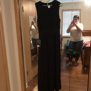 Bebe black maxi dress cutout gown festival large